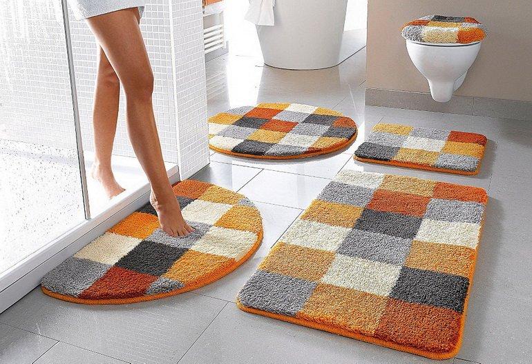 украшение ванной средствами текстиля
