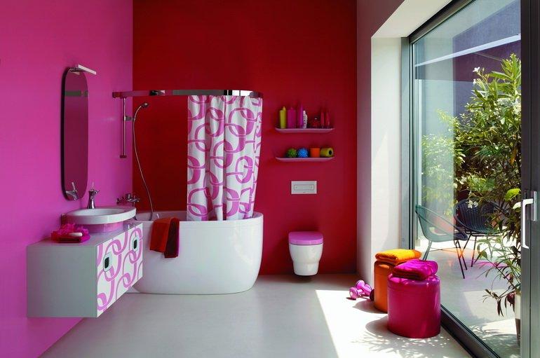 вариант декора ванной комнаты