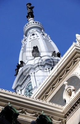 Philadelphia City Hall Башня с Статуя Уильям Пенн,