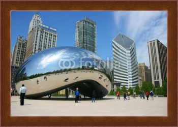 Магнитная картина Парк тысячелетия cloud gate, Чикаго