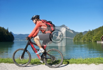 Mountainbiketour am see, Велосипедисты