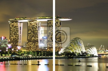 Модульное панно Marina Bay Sands & Gardens by the Bay 1, Казино