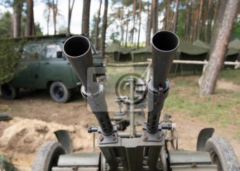 Old time Anti aircraft machine gun,
