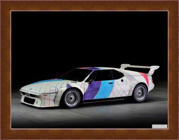 Магнитная картина BMW M1 Procar Art Car by Frank Stella (E26) '1979 дизайн ItalDesign,