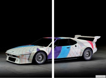 Модульное панно BMW M1 Procar Art Car by Frank Stella (E26) '1979 дизайн ItalDesign,