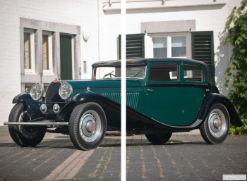 Модульное панно Bugatti Type 46 Faux Cabriolet by Veth & Zoon '1930,