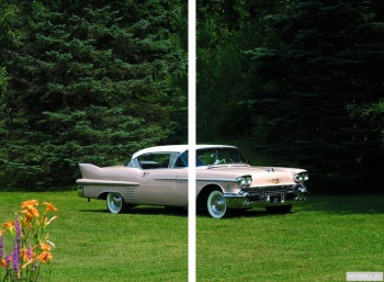 Модульное панно Cadillac Sixty-Two Coupe de Ville '1958,