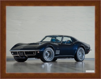 Магнитная картина Corvette Stingray L36 427 Convertible (C3) '1969,