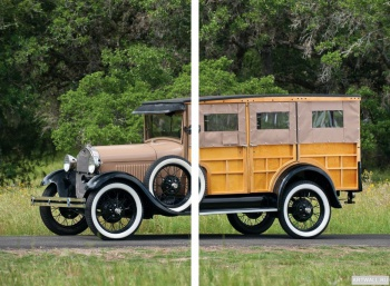 Модульное панно Ford Model AA Popcorn Truck by Cretors '1929,