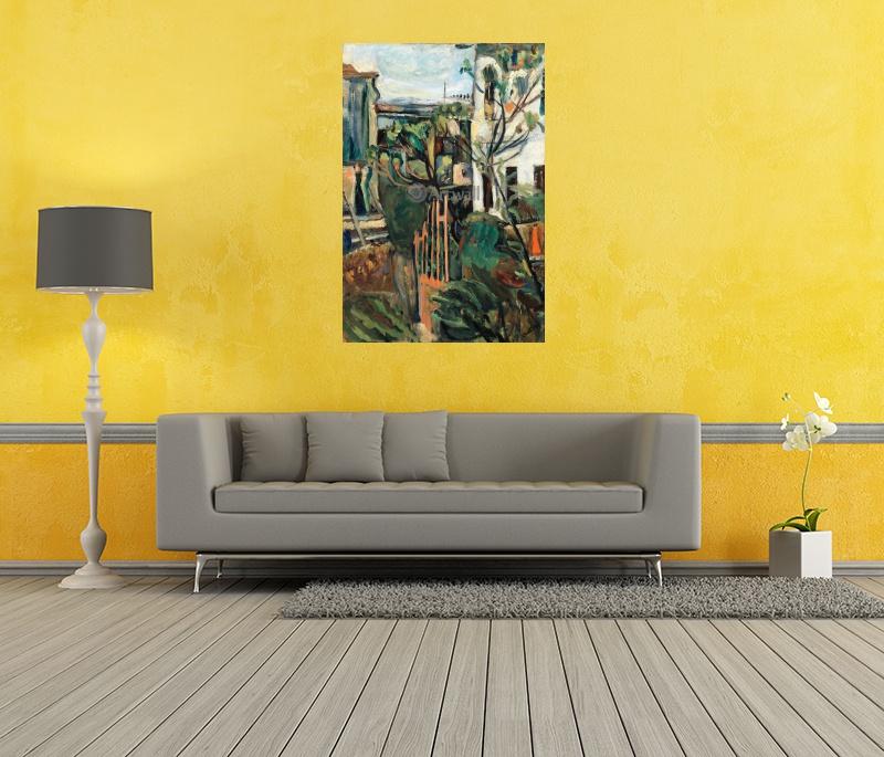 Картина часы Дерево на ветру на холсте любого размера