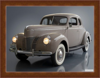 Магнитная картина Ford V8 Deluxe 5-window Coupe (01A-77B) '1940,