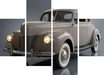 Модульное панно Ford V8 Deluxe 5-window Coupe (01A-77B) '1940,