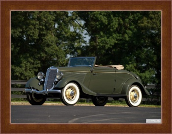 Магнитная картина Ford V8 Deluxe Cabriolet (40-760) '1934,