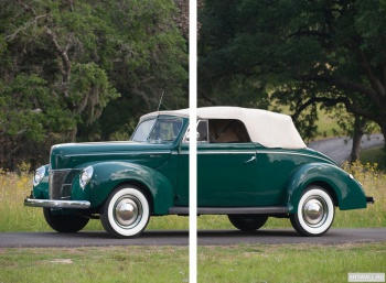 Модульное панно Ford V8 Deluxe Convertible Coupe '1940,