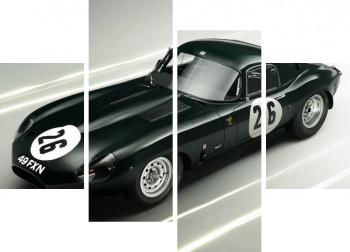 Модульное панно Jaguar E-Type Lightweight Coupe (Series I) '1963,