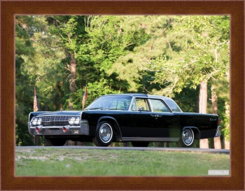 Магнитная картина Lincoln Continental Bubbletop Kennedy Limousine '1962,