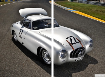 Модульное панно Mercedes-Benz 300SL LeMans Prototype (W194) '1952,