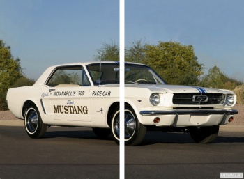 Модульное панно Mustang Hardtop Coupe Indy 500 Pace Car '1964,