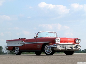 Pontiac Bonneville Custom Convertible (2567) '1958 Произведено 3096 единиц,