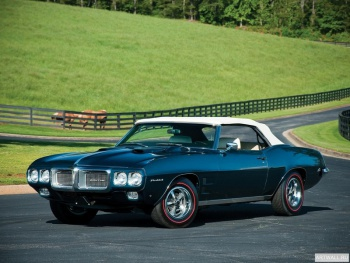 Pontiac Firebird 400 Ram Air IV Convertible '1969 Произведено 17 единиц,