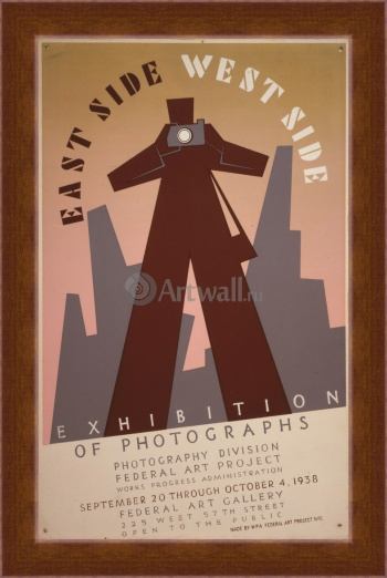 Магнитная картина East Side West Side Exhibition of Photographs, Works Progress Administration (USA)