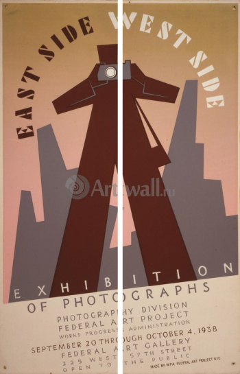 Модульное панно East Side West Side Exhibition of Photographs, Works Progress Administration (USA)