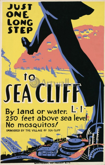Just One Long Step to Sea Cliff, 250 Feet Above Sea Level, Works Progress Administration (USA)