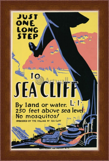 Магнитная картина Just One Long Step to Sea Cliff, 250 Feet Above Sea Level, Works Progress Administration (USA)