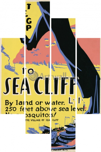 Модульное панно Just One Long Step to Sea Cliff, 250 Feet Above Sea Level, Works Progress Administration (USA)