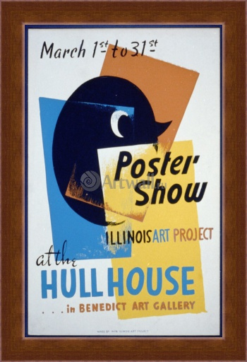 Магнитная картина Poster Show at the Hull House, Illinois Art Project, Works Progress Administration (USA)