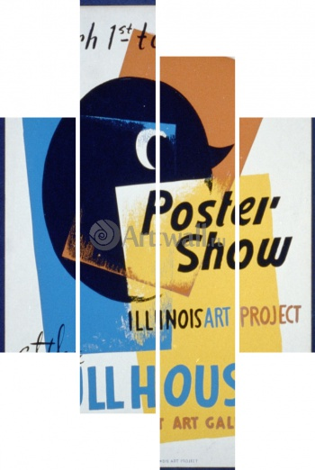Модульное панно Poster Show at the Hull House, Illinois Art Project, Works Progress Administration (USA)