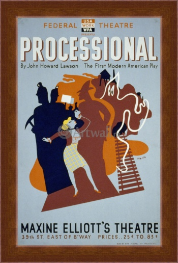 Магнитная картина Processional by John Howard Lawson, Works Progress Administration (USA)