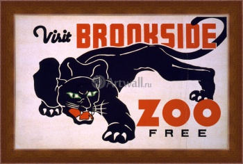 Магнитная картина Посетите Brookside Zoo Free, Works Progress Administration (USA)