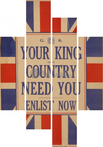 Модульное панно Your King and Country Need You, Enlist Now, Война