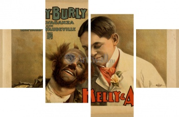 Модульное панно Hurly-Burly Extravaganza and Refined Vaudeville, Kelly & Ashby,