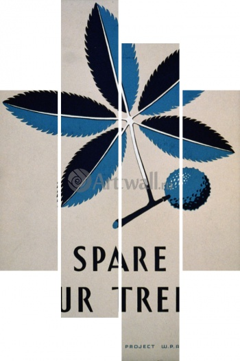 Модульное панно Spare Our Trees Vintage Printable Poster,