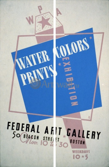 Модульное панно Water Colors Prints Vintage Poster, Искусство