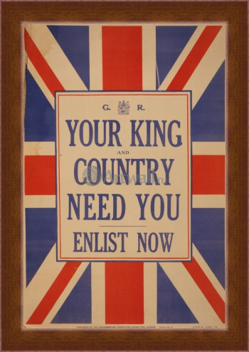 Магнитная картина Your King and Country Need You, Enlist Now, Пропаганда