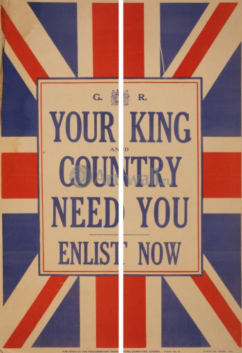 Модульное панно Your King and Country Need You, Enlist Now, Пропаганда