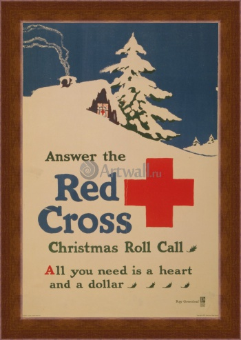 Магнитная картина Answer the Red Cross Christmas Roll Call, All You Need is a Heart and a Dollar, Реклама