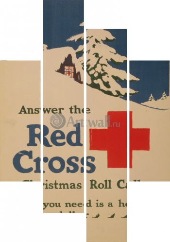 Модульное панно Answer the Red Cross Christmas Roll Call, All You Need is a Heart and a Dollar, Реклама
