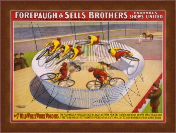 Магнитная картина Forepaugh & Sells Brothers, 7 Wild Wheel Whirl Wonders,