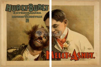 Модульное панно Hurly-Burly Extravaganza and Refined Vaudeville, Kelly & Ashby, Реклама