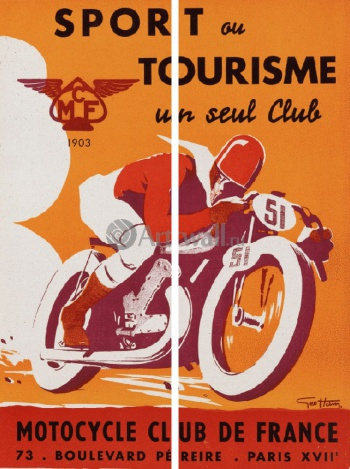 Модульное панно Sport ou Tourisme un seul Club, Motorcycle Club de France, Реклама