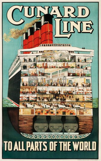 Cunard Line, To All Parts of the World, Туризм