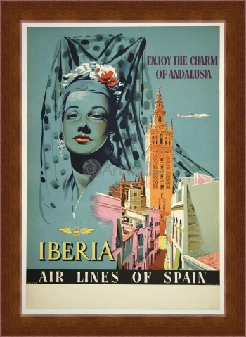 Магнитная картина Enjoy the Charm of Andalusia, Iberia, Airlines of Spain,