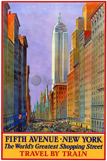 Fifth Avenue, New York The World's Greatest Shopping Street, Travel by Train,