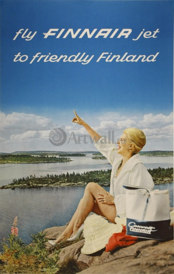 Fly Finnair Jet to Friendly Finland,