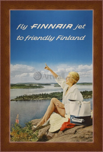 Магнитная картина Fly Finnair Jet to Friendly Finland,