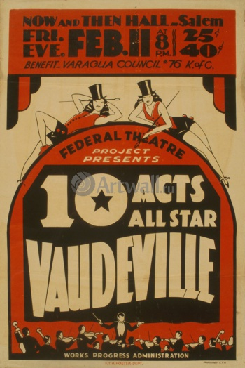 10 Acts All Star Vaudeville, Federal Theater Project,